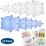 20% off 12pcs Round Silicone Food Fresh Lid $11.90 + Delivery ($0 with Prime/ $39 Spend) @ Simonpen Amazon