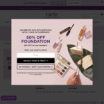 50% off Tarte Foundations and Tinted Moisturisers (Registration Required, Free Shipping with $80) @ Tarte Cosmetics
