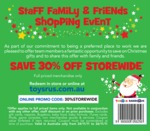 Toys R Us 30% off Storewide Coupon, Valid 24-26 Nov, Exclusions Apply