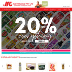[VIC] 20% off Sitewide + $18 Delivery > $50, $9 Delivery > $80 or Free > $150 or C&C @ JFC Online