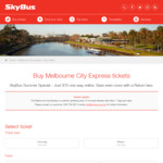 Melbourne City Express Return Adult Ticket for $28 (RRP $37.50), One-Way for $15 (RRP $19.75) @ Skybus