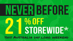 21% off RRP Storewide @ vfmgroup