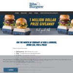 Win Prizes Worth a Total of $1,000,000 from Ribs and Burgers