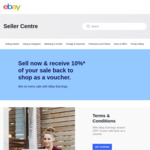 10% of Sale Price Back as a Voucher (up to $50 Per Voucher, $2500 Account Cap) @ eBay (Seller) Earnings Rewards