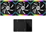Lian Li 3 Pack Black 12UF3B UNI FAN SL120 RGB LED 120mm Gaming Case Fan - $129 Delivered @ GG Tech eBay