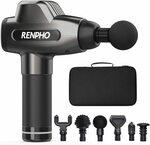 RENPHO Massage Gun, Powerful Percussion Muscle Massager $104.99 Delivered ($45 off) @ Renpho Wellness AU Amazon AU