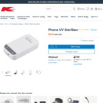 Anko Phone UV Steriliser $2.50 (Was $20) in-Store /+ $3 C&C ($0 with $20 Order) /+ Delivery ($0 with $65 Order) @ Kmart