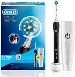Oral-B Pro 2 2000 Electric Toothbrush with Travel Case (Black) $59 Delivered @ Amazon AU / Shaver Shop