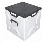 Polypropylene Knock-down 55 Litre Storage Box Grey $3.01 Officeworks Clearance