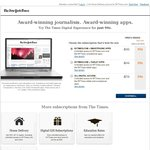 NYTimes.com All Digital Access Subscription AUD$1.08 for 8 Weeks Web / Smartphone / Tablet