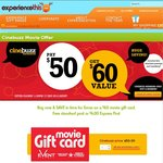 Cinebuzz: $60 Event Cinemas Gift Card Only $50 Save 17% ($8.33 Movies With Telstra Thanks)