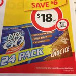 24x250ML Box of up and Go's for $18 Was $24 (Vic) at Coles