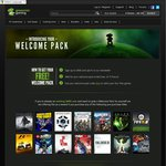 FREE $0 Welcome Pack for New Users Greenman Gaming