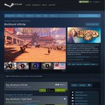 [Steam] BioShock Infinite $9.99 USD, Bioshock 1 + 2 + Infinite $13.99 USD