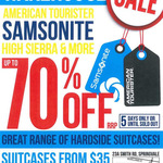 Up to 70% off Samsonite Warehouse Sale December 3rd-7th [MEL Springvale]