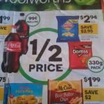 Woolworths 1/2 Price Specials 30/9: 2L Coke $1.99, Chobani Yoghurt 170g $1.12, Spam 340g $2.45, Connoisseur 4-6pk $3.99 + More