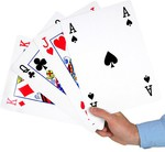 Super Sized A4 Playing Card Set $16.50 (RRP $49.95) + Shipping from Yardgames