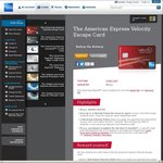 American Express Velocity Escape - 7,500 Velocity Points When You Spend $300 ($0 Annual Fee)