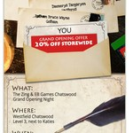 20% off Storewide 31 Aug 2016 @ EB Games Chatswood, NSW