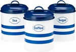 Prestige Vintage Tea, Coffee and Sugar Canister Set  $15.95 (Was $34.95) + $10 Shipping @ Cookware Brands