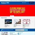 Masters - 10% off for Trade Members or Bunnings Power Pass and Trade Licence Holders