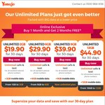Pay 1st Month and Get 2 Months Free, Plans Starting $19.90 @ Yomojo