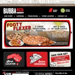 15% off at Bubba Pizza (VIC, SA)