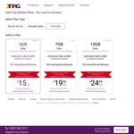 TPG Mobile Plans Unlimited Call/Text + 7GB $20/Month + 10GB $25/Month (First 6 Months Only, No Contract)