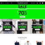 Tarocash Shirt, Shoes and Short Sleeve T-Shirt Sale: Shirts and T-Shirt Are from $19.99, Shoes from $59.99 (Free Ship if > $85)
