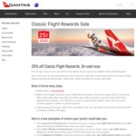 25% off Economy Classic Flight Rewards @ Qantas
