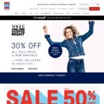 Just Jeans 30% Off Full Priced Items + Free Shipping Code