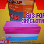 Repco - 36 Piece Microfibre Cloths Value Pack $13 [$0.36 Each] Starts 30/11/2017