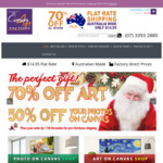 70% off for All Artwork Products Price from $23 for 30x20 cm    $30 for 60x20 cm    $26 for 30x30 cm @ The Canvas Art Factory