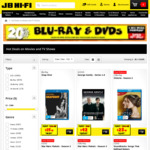 20% off DVDs and Blu-Rays at JB-HiFi for Wicked Wednesday