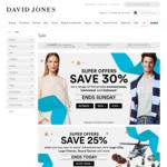 David Jones: Take 30% on Full-Priced Menswear from Tommy Hilfiger, Gant, Nautica, Gazman, Blazer & Driza Bone