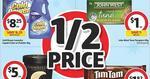 Coles: Tim Tam $1.82, Luv-A-Duck $11.5, Almond Milk $1.5, Bega Pnut Butter $2.3, Oreo $1, Pantene/Garnier 50%, Voda 18GB Kit $15