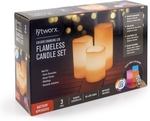 Lytworx Colour Changing LED Flameless Candle Set with Remote $9 (Was $19.98) @ Bunnings