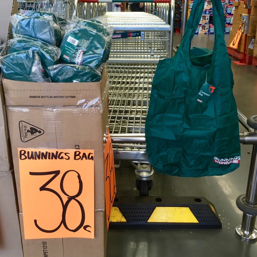 [NSW] Bunnings Compact Foldable Shopping Bag $0.38