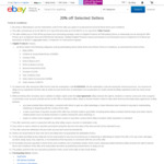 20% off Eligible Products at 12 eBay Stores (EB Games, Hobby Warehouse, + More)
