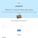 Free $10 Domino's Voucher via GiftPay for Doing a Quick Video Survey
