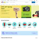 10% off Sitewide @ eBay (Min Spend $75, Max Discount $300)