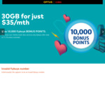 Flybuys Bonus 10,000pts with $35/mth Optus SIM Only 30GB, Unlimited National Calls/Texts + More, 12mths Minimum [New Services]