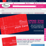 Spend $100 or More Online & Get 10% Back in Gift Card @ Peter's of Kensington