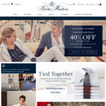 40% Sitewide (Excluding Suits, 30% off) @ Brooks Brothers
