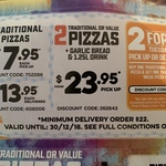 Buy 1 Premium, Melbourne or Traditional & Get 1 Traditional or Melbourne Pizza Free on Tuesdays @ Domino's + More