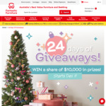 Win a Share of $10,000 Worth of Daily Prizes from Fantastic Furniture's 24 Days of Christmas Giveaway
