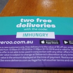 Two Free  Deliveries (New Customers) @ Deliveroo