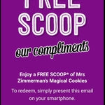 Get an Additional Mrs Zimmerman's Magical Cookie Gelato Scoop with any Full Priced Gelato Purchase @ Gelatissimo