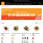 50% off Discontinued Teas for 2018 (e.g. Cubes from $6) @ T2