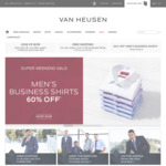 50% off Everything (after Coupon Code) and 80% off Shirts (Combined with The Code) with Free Delivery on $100 Spend @ Van Heusen